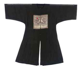 a_black_summer_gauze_pufu_or_surcoat_qing_dynasty_circa_1850_d5434835h
