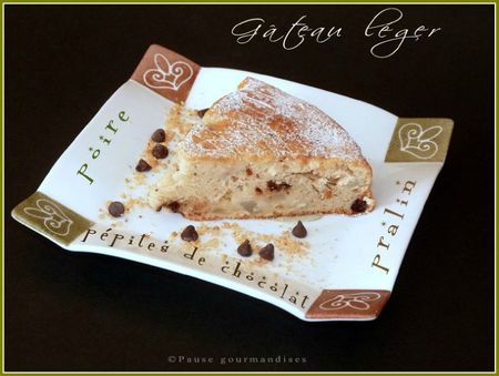 gâteau léger poire pralin et pépites de chocolat (35)