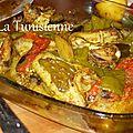Djej be khodhra fil coucha - poulet et légumes au four à la tunisienne