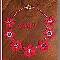 Collier Fleurette rouge