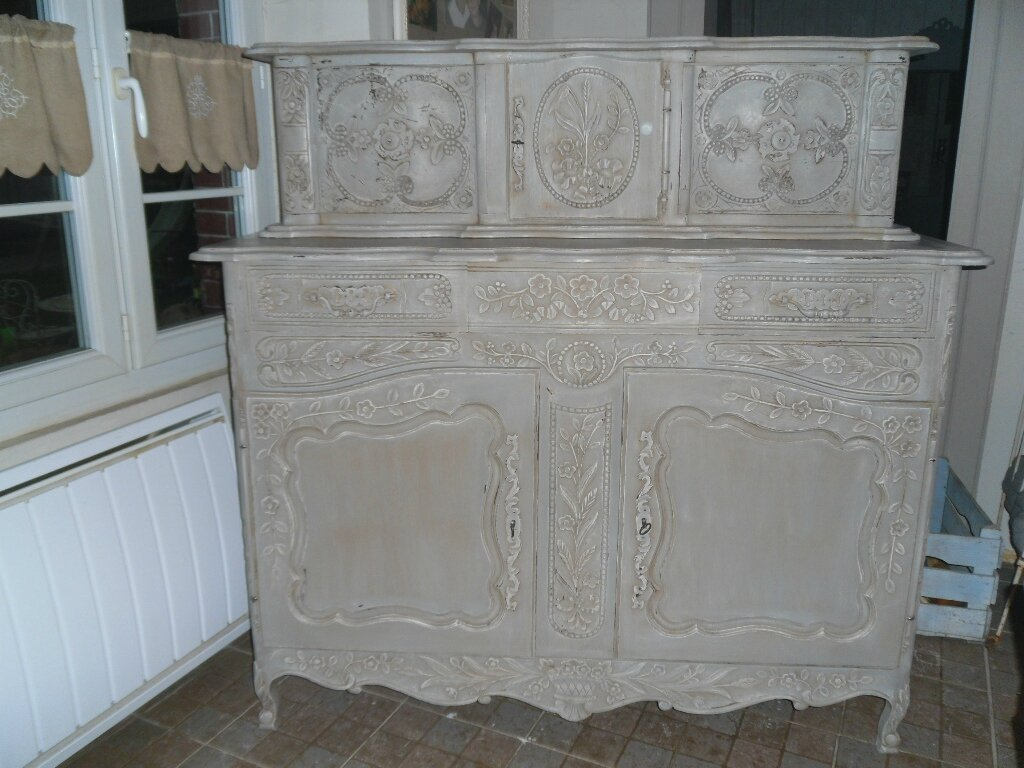 buffet patine gris ancien atelier retouche paris. Black Bedroom Furniture Sets. Home Design Ideas