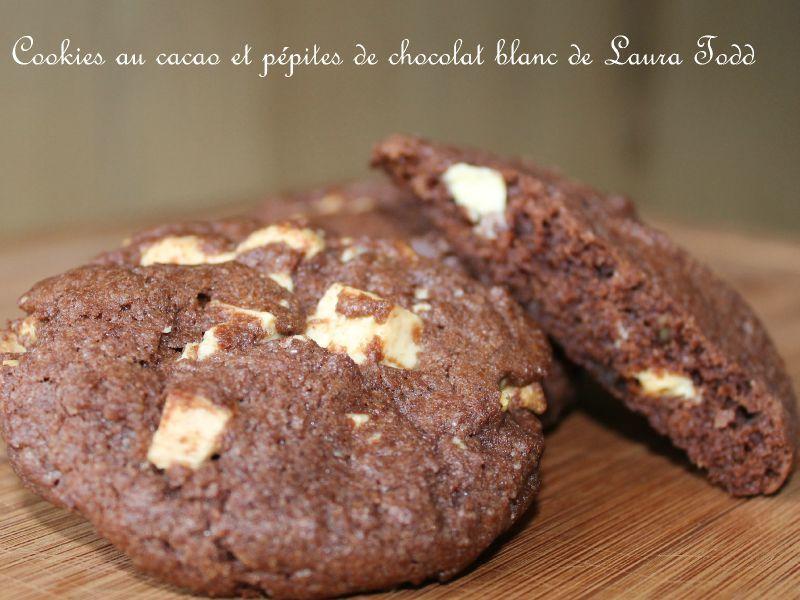 Cookies au cacao et p pites de chocolat blanc de laura todd la cuisine des p 39 tites douceurs - Recette cookies laura todd ...