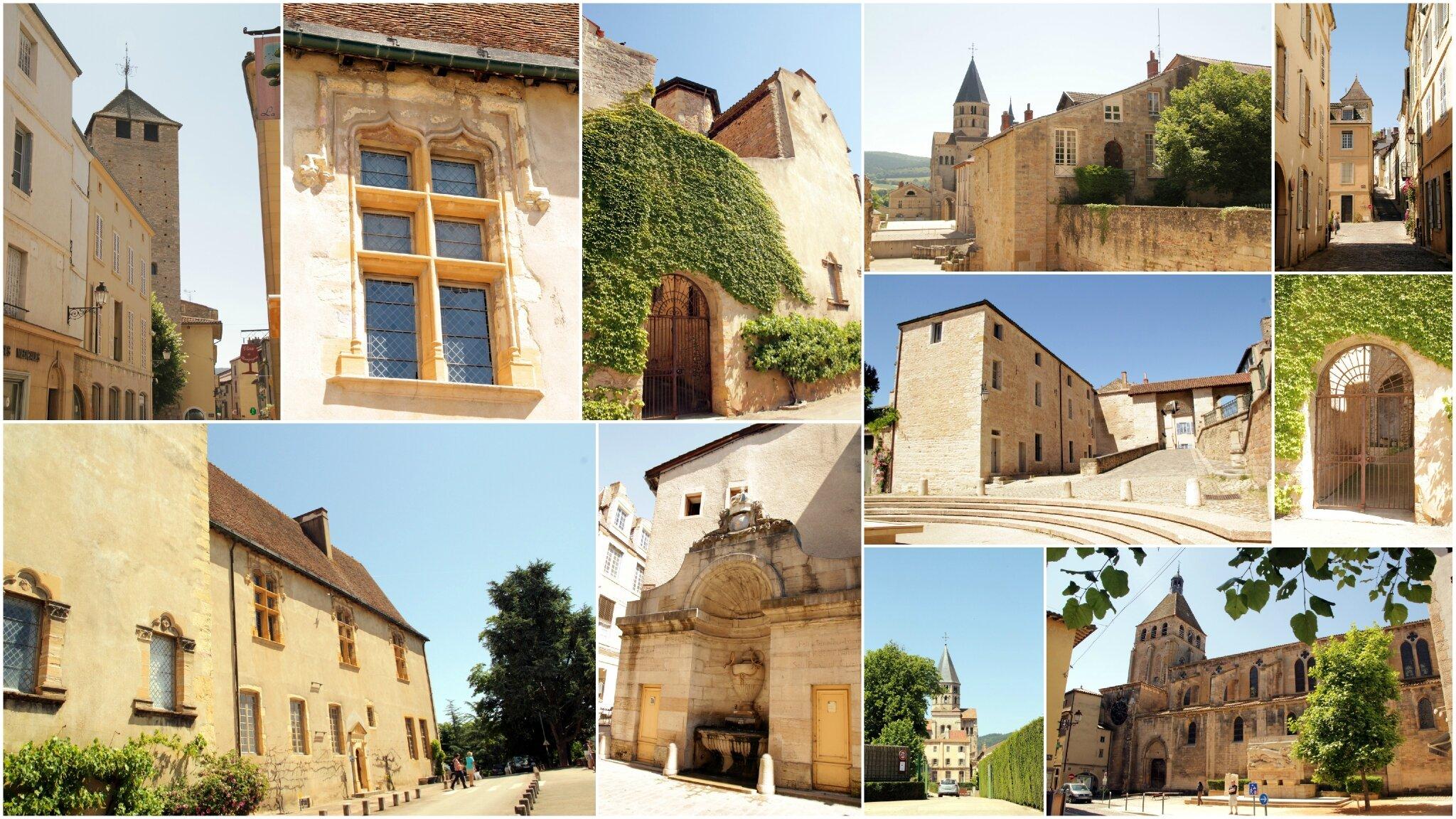 Cluny, son village et son abbaye