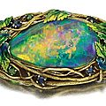Gold, enamel and opal brooch, Louis Comfort Tiffany, Circa 1910