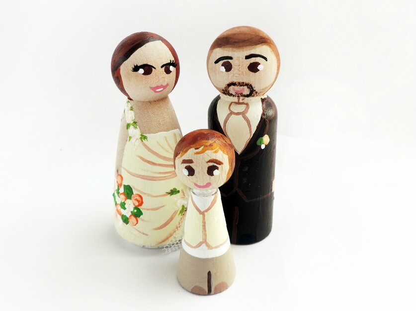 Famille Cake topper personnalisée