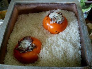 Kakis dans la boite de riz 1000