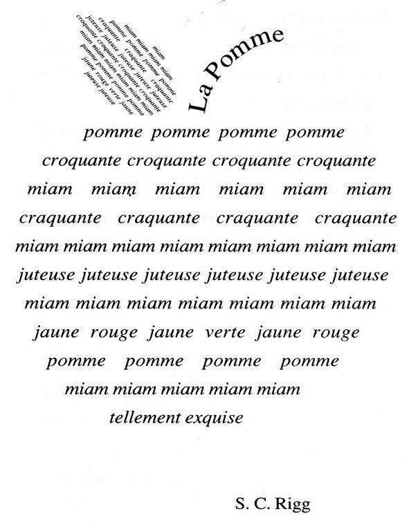 Inscription atc s rie artistique 7 f vrier calligramme for Coeur couronne et miroir apollinaire