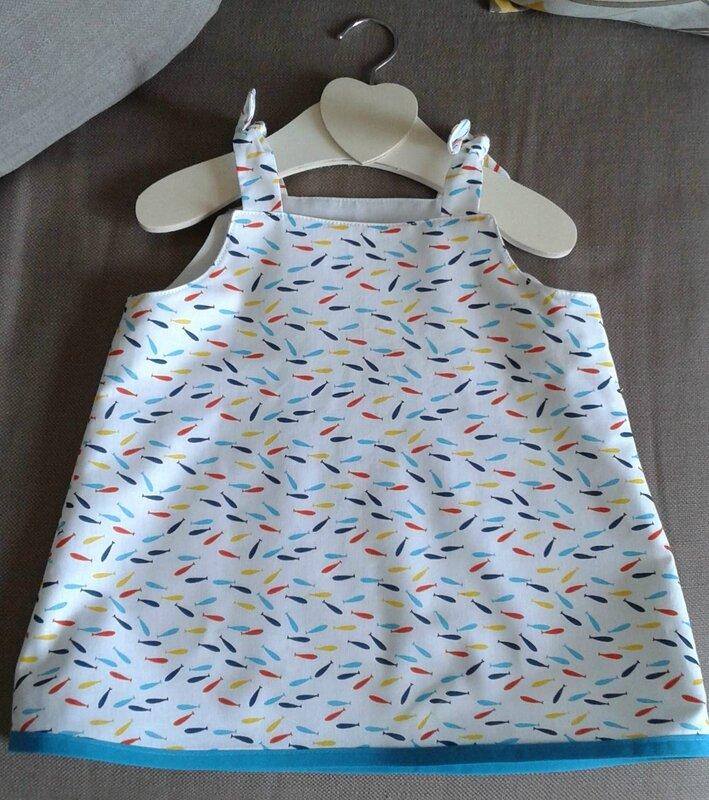 robe mini poissons 6 mois