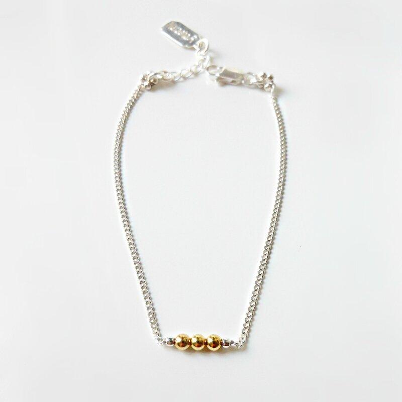 Bracelet-Polka-Or-Argent-925