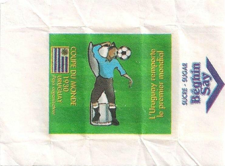 Emballages de sucre Coupe du Monde Football Uruguay 1930