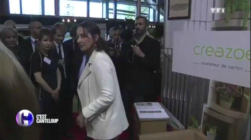 Ségolène Royal sur stand CréaZoé