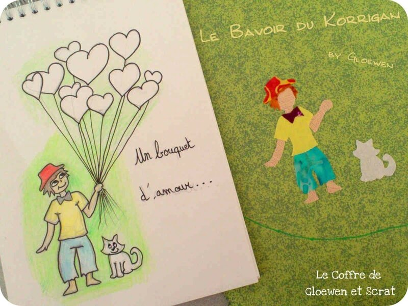 Bavoir Korrigan version bouquet d amour by Gloewen (3)
