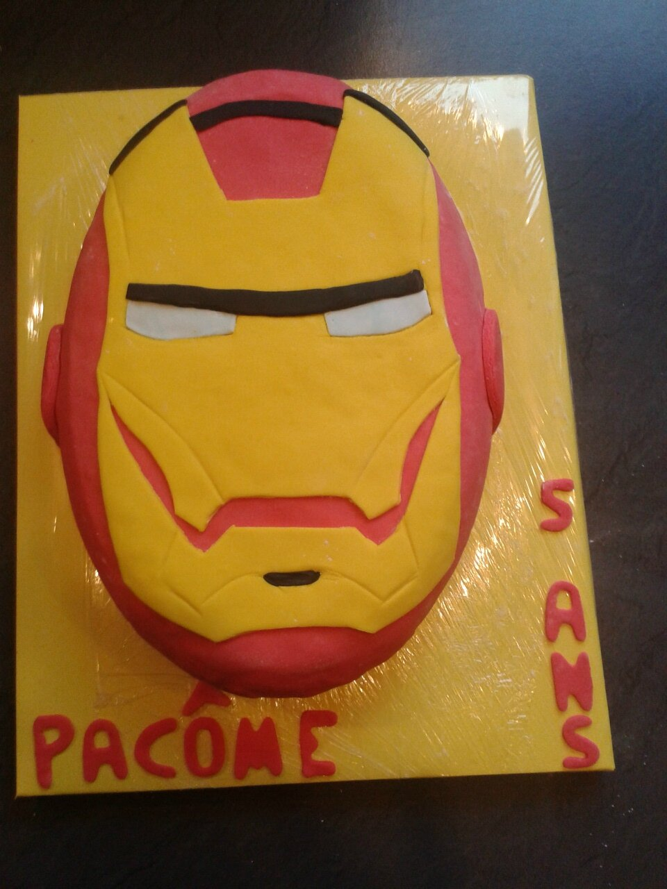 deco gateau iron man