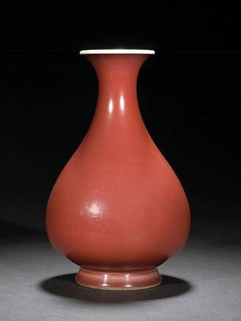 A_copper_red_glazed_porcelain_vase__yuhuchunping_
