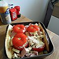 Tomates farcies au jambon et mozzarella