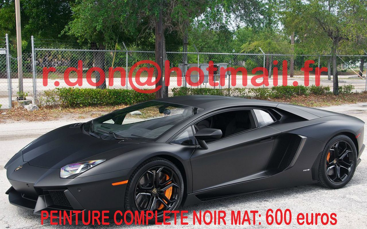 lamborghini aventador noir mat covering paris covering auto total covering noir mat peinture. Black Bedroom Furniture Sets. Home Design Ideas