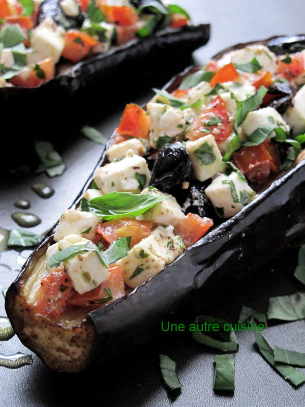aubergines farcies fa on grecque une autre cuisine. Black Bedroom Furniture Sets. Home Design Ideas