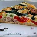 tarte aux courgettes , tomates et thon.