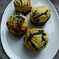 Muffins au chocolat § tourbillons de ricotta