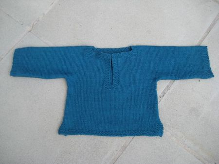 Pull coton encolure tunisienne (1)