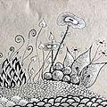 Jardins imaginaires et zentangle