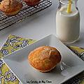 Muffins à l'orange et aux amandes, sans gluten et sans lactose