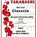 Harue takahashi, récital au clavecin à st jean les deux jumeaux
