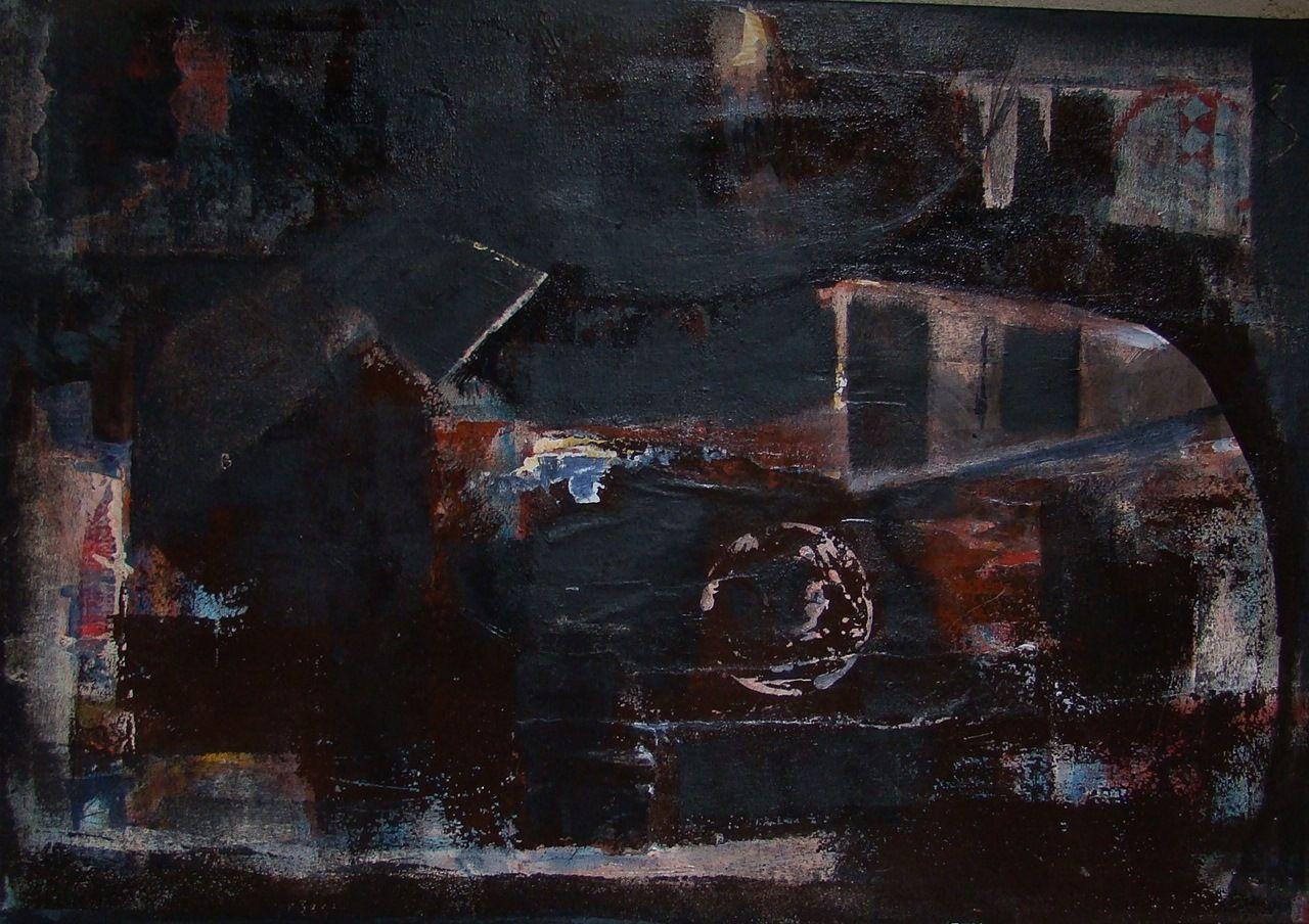 Cercle, acrylique sur toile 65 x 80cm