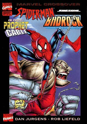 marvel crossover 07 spiderman badrock
