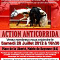 Action anticorrida à bayonne samedi 28 juillet