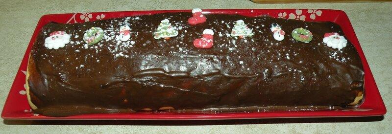 Buche de noël chocolat pralin