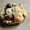 Cookies salés : parmesan / noisette