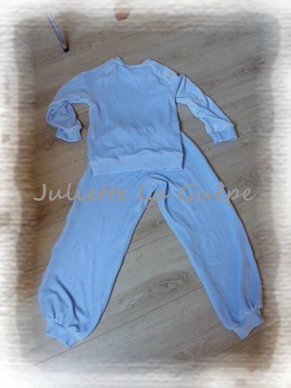 Pyja chaudoux bleu 1