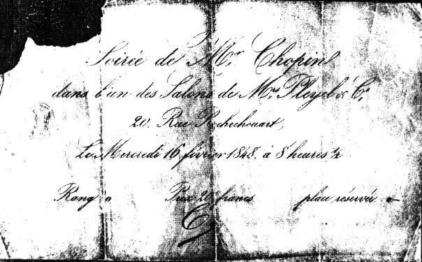invitation concert du 16 février 1848