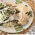 Recette au rice cooker #1 : riz au lait de coco, épinards et poulet