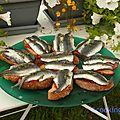 Sardine en bruschette, le poisson bleu par excellence