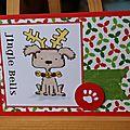 Une carte de noël (avec un chien dessus)