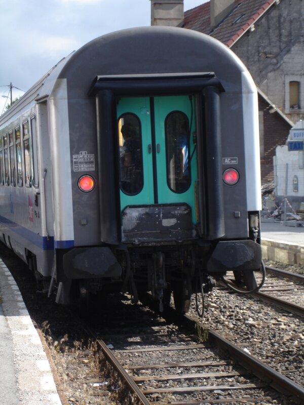 La Bastide : départ du TER corail en direction de Langogne et Cl