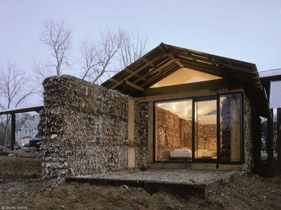 Une maison en carton en recycl peau ethique for Acheter des maisons