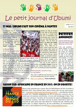 Newsletter Ubumi mai 2013 comp