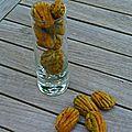 Mini madeleines au pistou