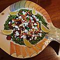 Calamars & chorizo, couscous a la grecque by jamie oliver