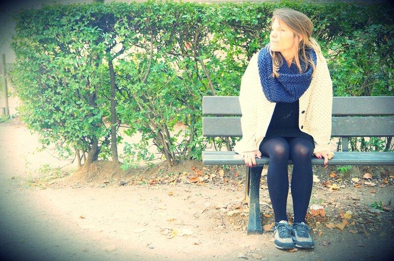 snood bleu __