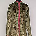 Fortuny stenciled velvet coat, early 20th century