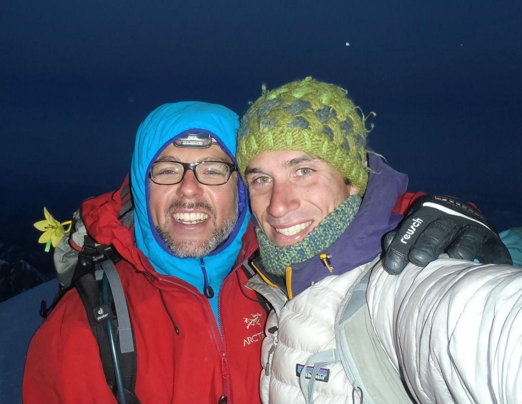 Début de journée au sommet du Mont Blanc.