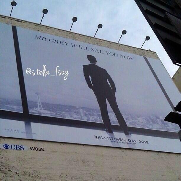 la parenthese doree-cinquante nuances de grey-fifty shades of grey-tournage vancouver-jamie dornan-dakota-johnson-christian grey-anastasia steele-poster #FSOG