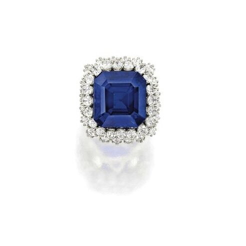 The Jewel of Kashmir. Exceptional Sapphire and Diamond Ring