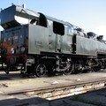 La loco à vapeur en attente au dépôt de Bordeaux St Jean
