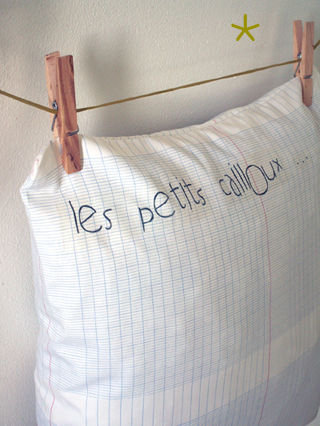 coussin cahier