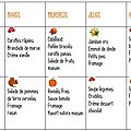 Grille de menus #4